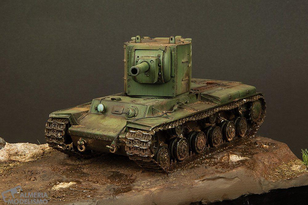 Galería: KV-2 con Terreno, Hobbyboss 1/48, por Paco Lao